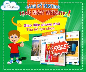 Mua hosting tặng website